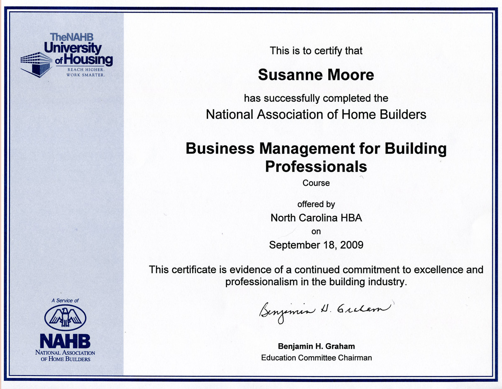 Moore construction services inc custom home builder in the business management for building professional certification xflitez Images